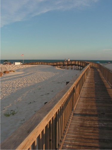 Gulf boardwalk