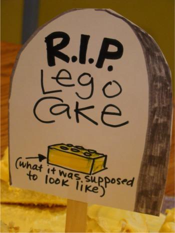 Rip lego cake