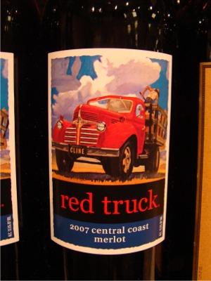 Wine red truck
