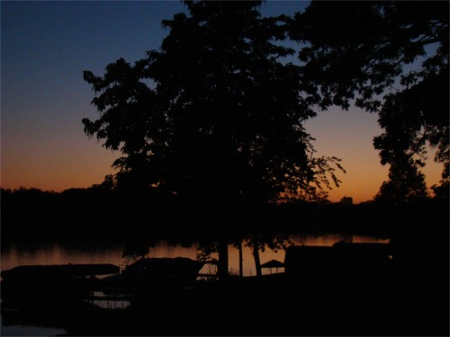Lake 2010 sunset