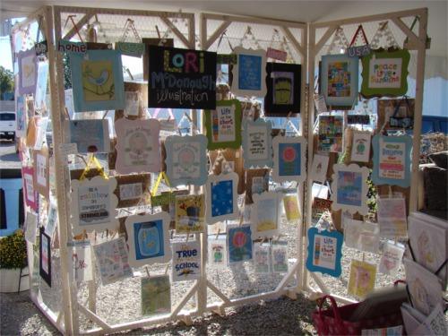 Carmel art fair walls