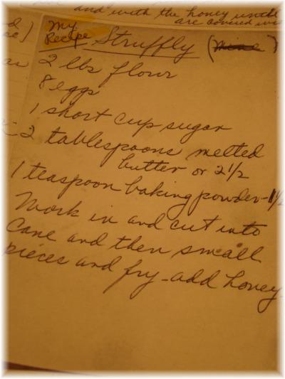 Struffoli recipe card
