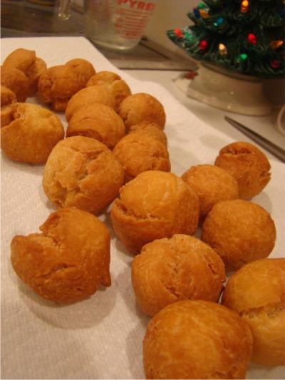 Struffoli fried