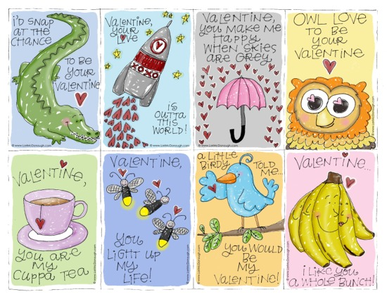 fresh picked whimsy straight from my heart – Free Printable Valentine Cards for Friends