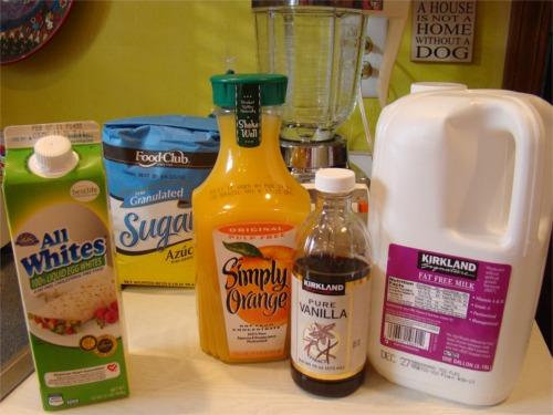 Orange julius ingredients