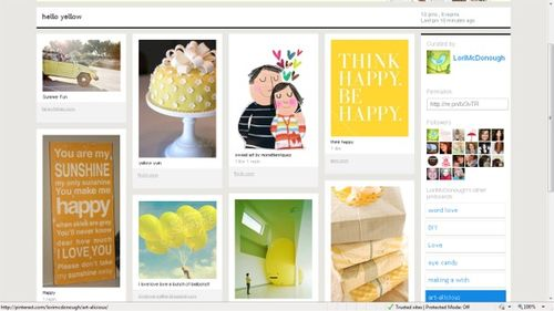 Pinterest yellow