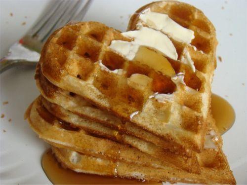Waffles hearts