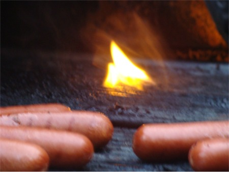 Hot dog fire