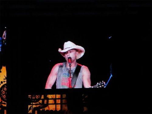 Kenny singing