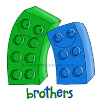 A perfect pair green blue brothers