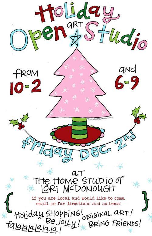 Holiday open studio 2011 blog
