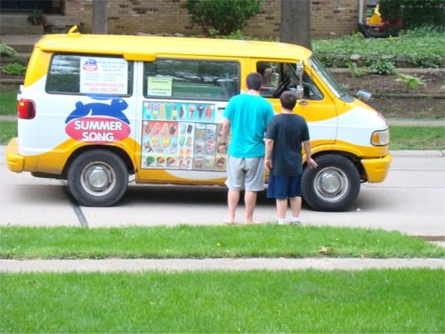 Ice cream man boys