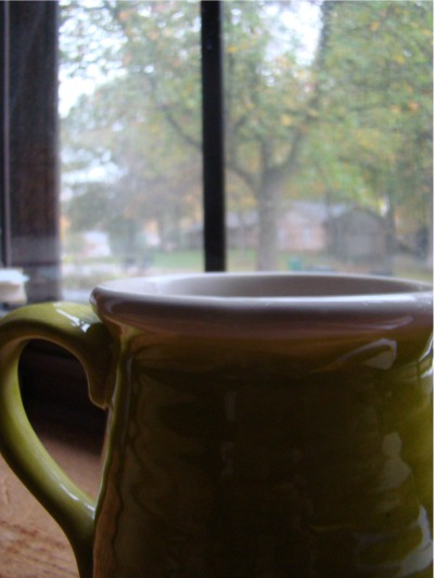 Rainy day coffee