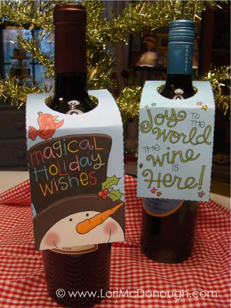 Wine gift tags bottles