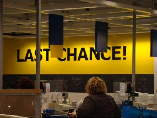 Ikea 2011 last chance