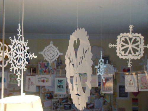 Open studio snowflakes ceiling
