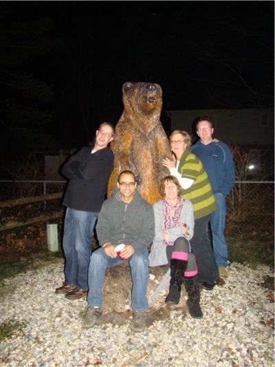 Wwo bear posing