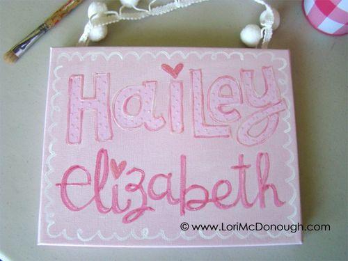 Hailey canvas
