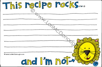 Woodbrook recipe card lion