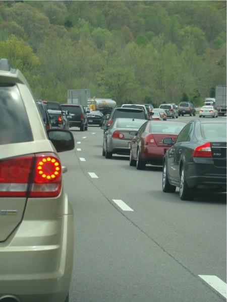 Spring break traffic