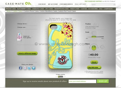 Iphone case screen shot