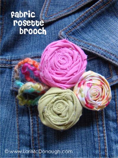 CC rosette brooch