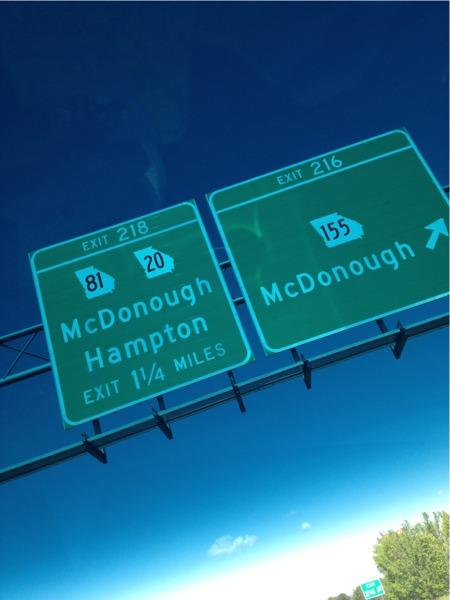 Roadtrip mcdonough