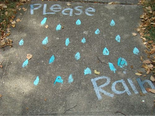Sidewalk paint pls rain