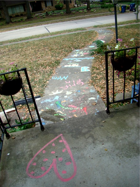 Sidewalk paint done