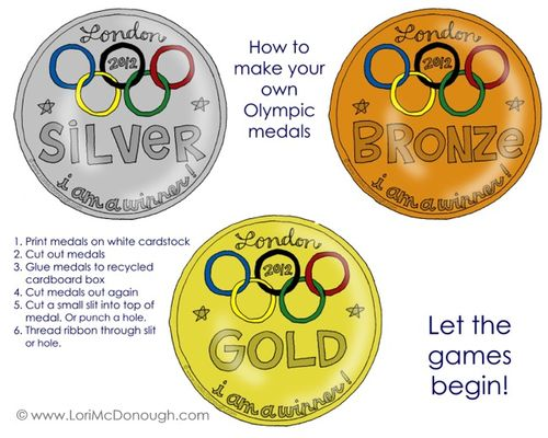Olympics medals printables