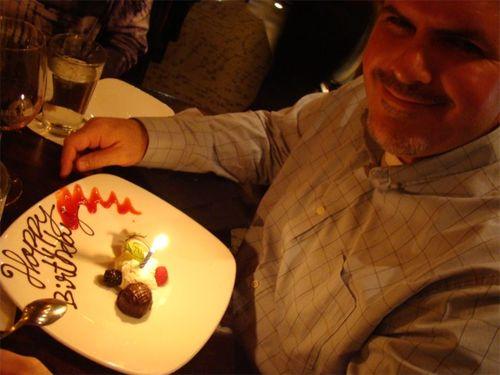 Mark bday dessert