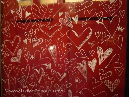 Heart door close up