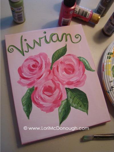 Vivian canvas