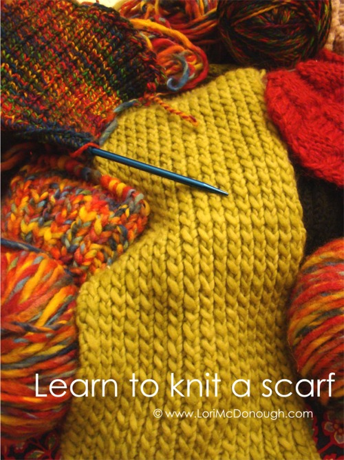 Cc learn to knit a scarf picture wm