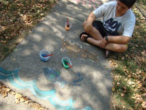 Sidewalk paint griff