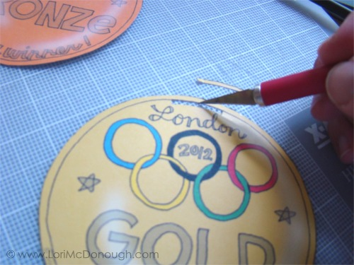 Olympic medals cut