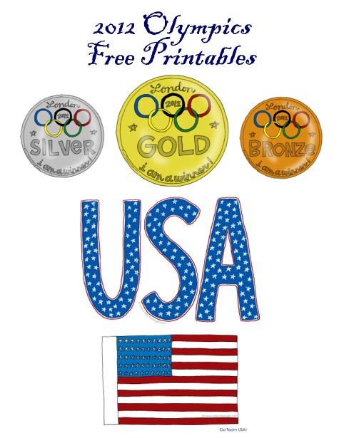 Olympic free printables collage
