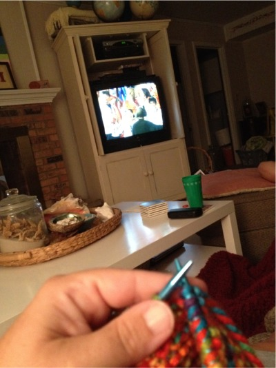 Knitting during olympics