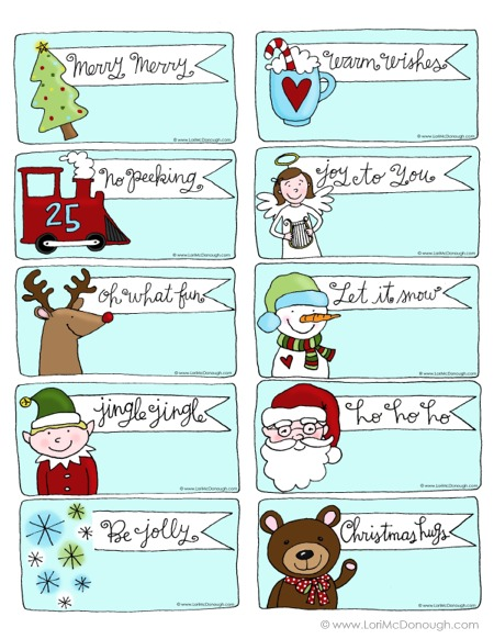 Merry little christmas tags for you