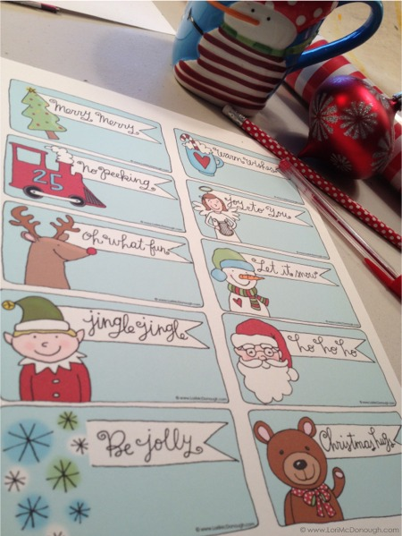 Merry little christmas labels