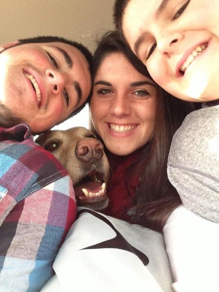 Family fun in the van