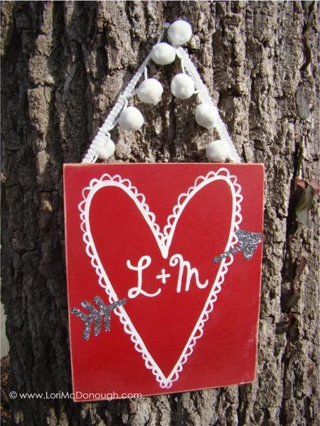 Vday glitter valentine