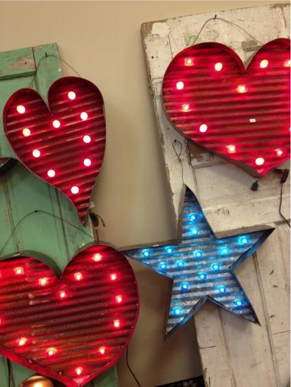 Salvaged illuminated hearts