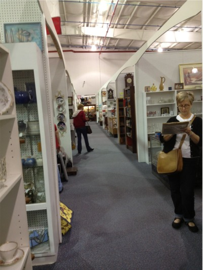 Antique mall aisle