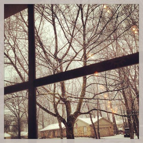 Snowing again