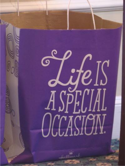 Hallmark swag bag