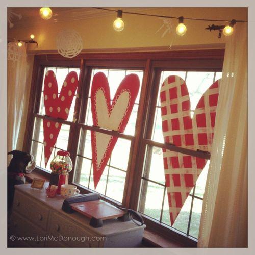 Window hearts inside