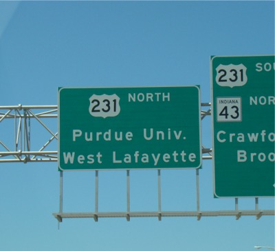 Purdue road sign