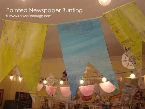 Cc painted newspaper bunting wm