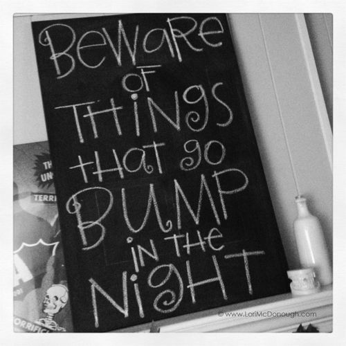 Bump in the night canvas